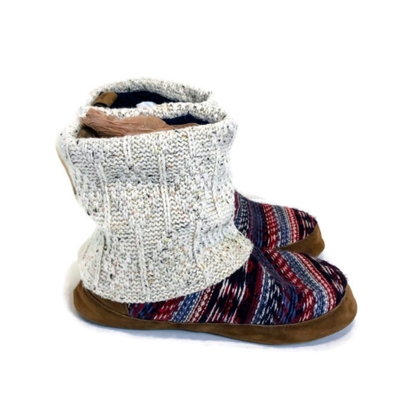 Mukluks Nordic Pattern Sweater Ankle Boots
